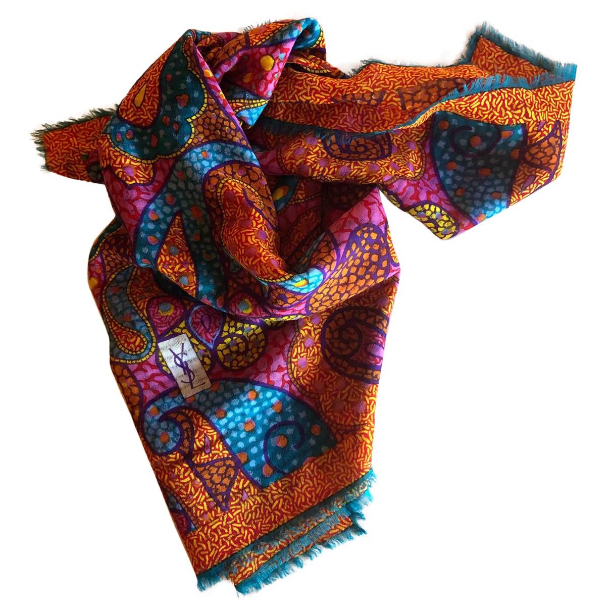 Yves Saint Laurent - Foulard   pour femme en laine - multicolore