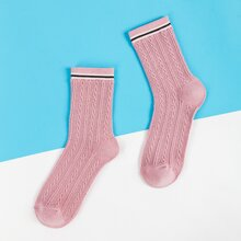 Socken mit Kontrast Saum
