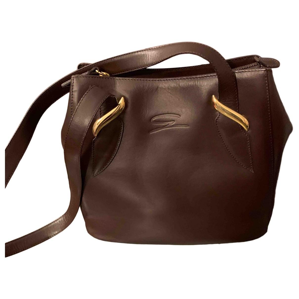 Genny \N Handtasche in  Braun Leder