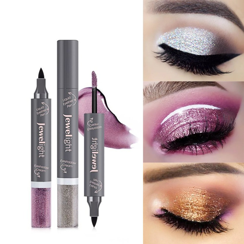 8 Colors Pearlescent Liquid Eyeshadow Waterproof Glitter Eye Shadow Long-lasting Liquid Eyeliner