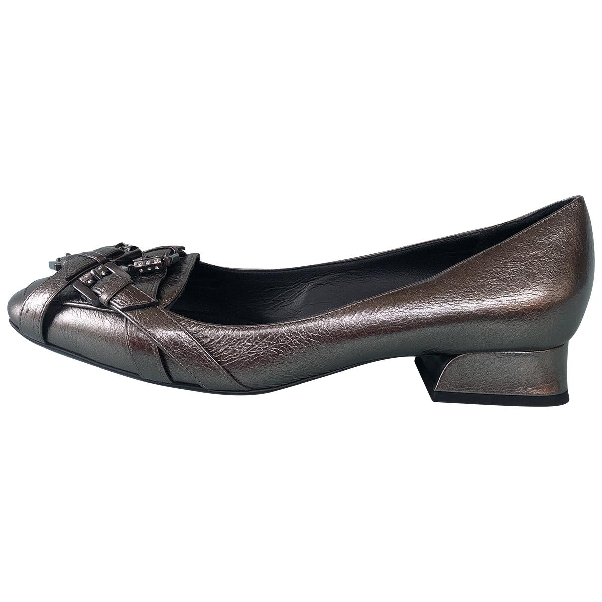Bottega Veneta \N Ballerinas in  Metallic Leder