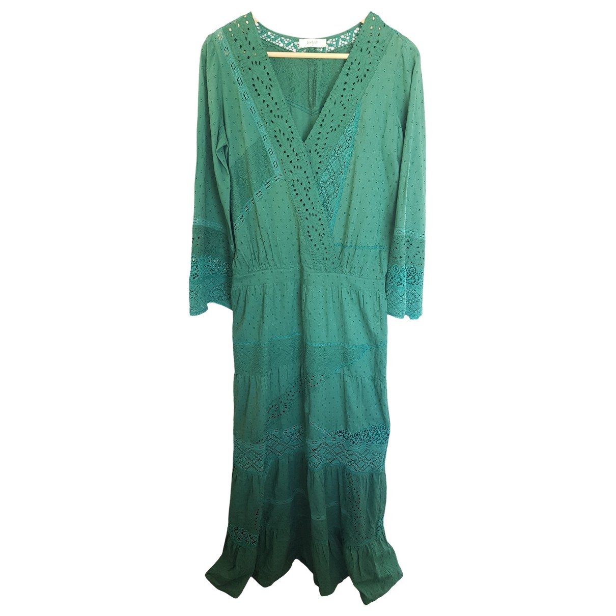 Ba&sh \N Green Cotton dress for Women 38 FR