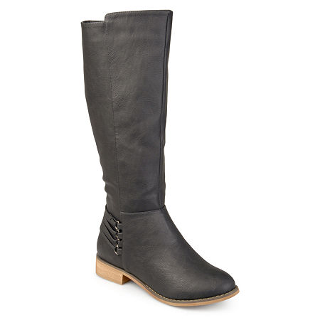 Journee Collection Womens Marcel Riding Boots Block Heel, 9 Medium, Gray