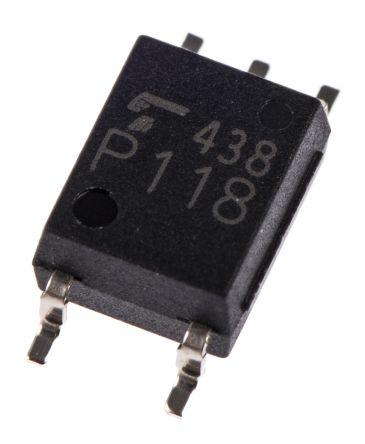 Toshiba , TLP118(E(O DC Input Logic Gate Output Optocoupler, Surface Mount, 5-Pin SO (5)