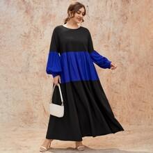 Vestidos Tallas Grandes Monocolor Casual