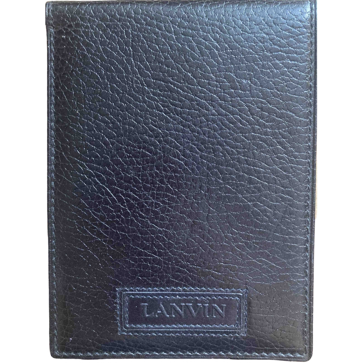Lanvin - Petite maroquinerie   pour homme en cuir - noir
