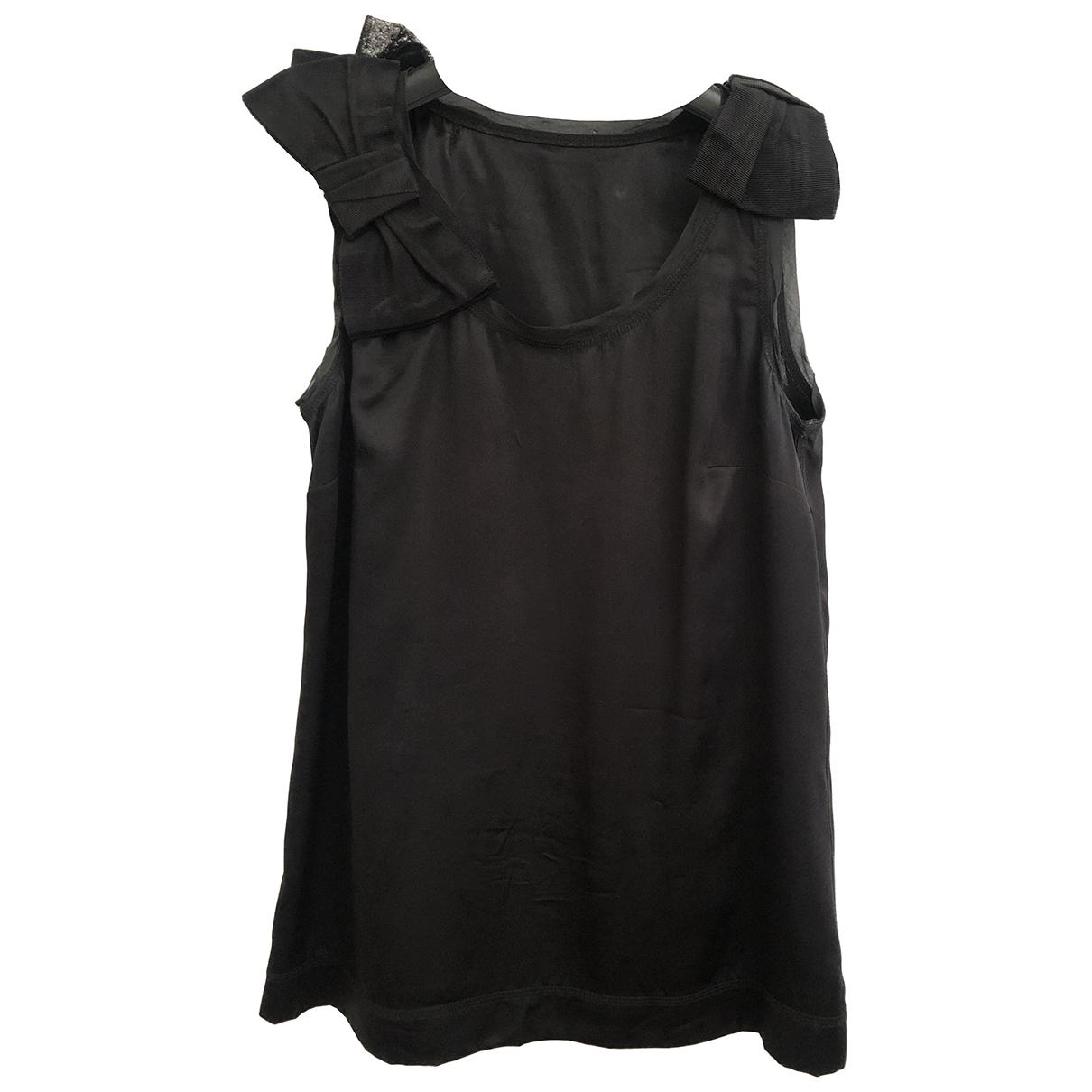 Dolce & Gabbana \N Black Silk  top for Women 40 IT