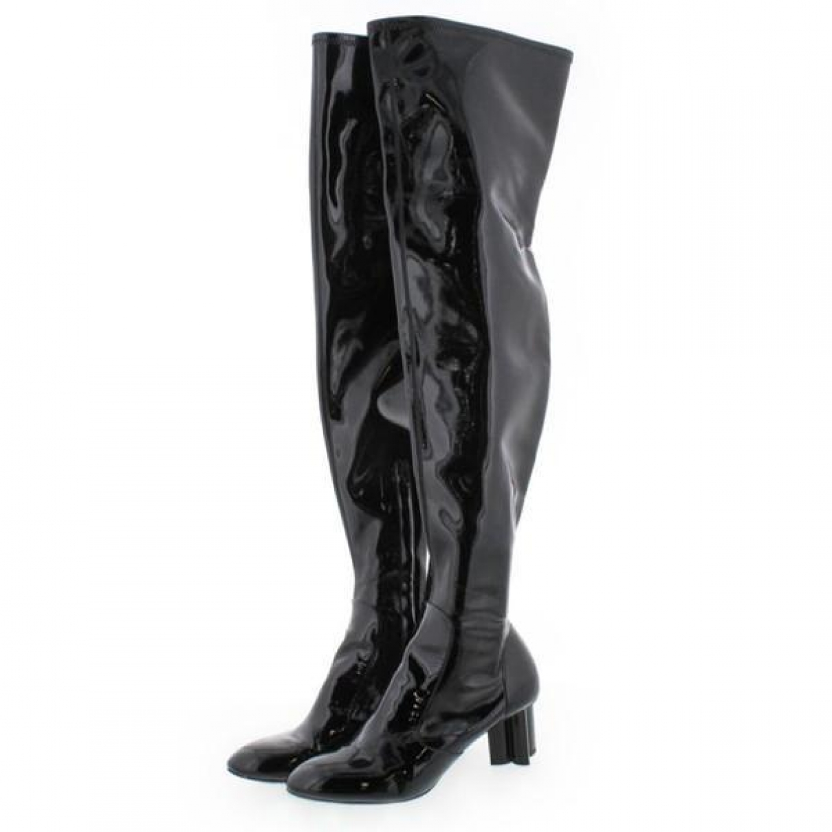 Louis Vuitton \N Black Patent leather Boots for Women 37.5 IT