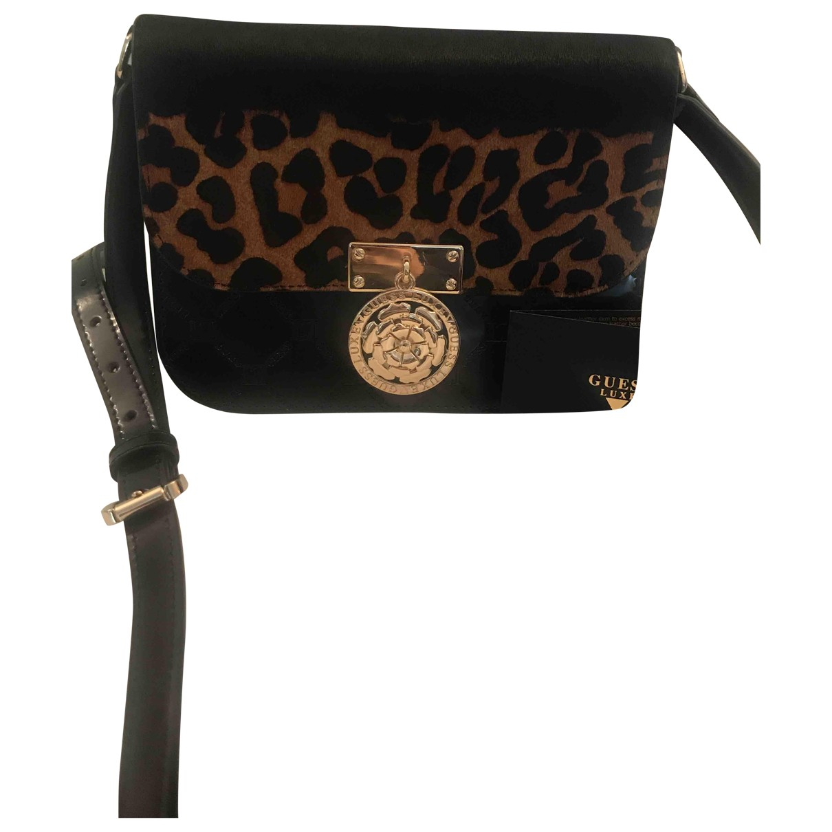 Guess \N Brown Leather Purses, wallet & cases for Women \N