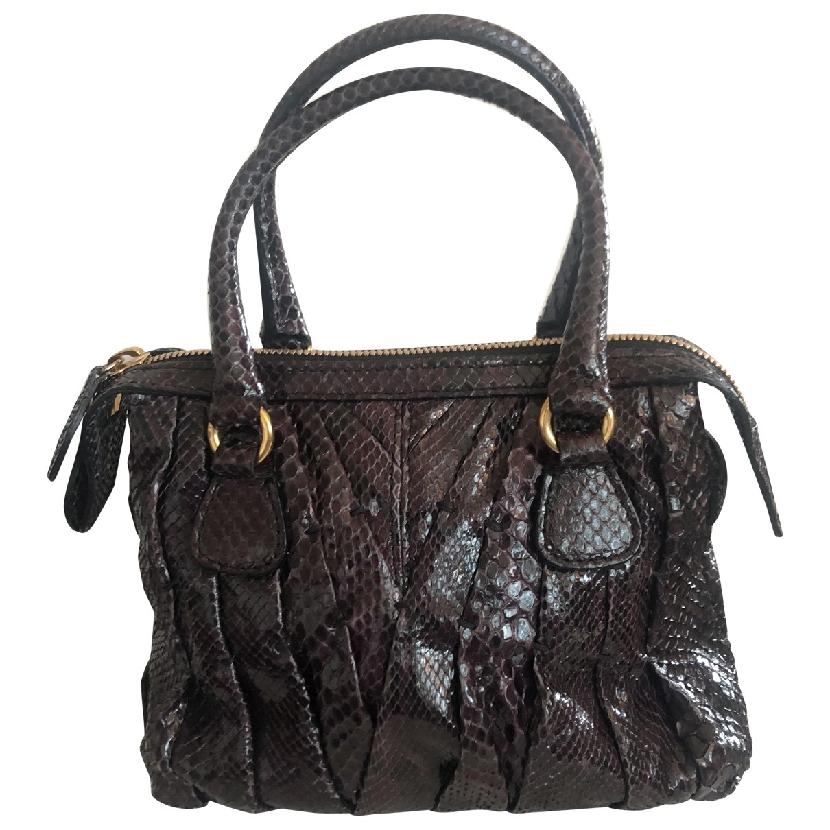 Valentino Garavani \N Purple Python handbag for Women \N