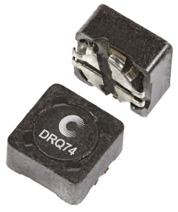 Eaton Bussmann Series , DRQ, 74 Shielded Wire-wound SMD Inductor with a Ferrite Core, 47 μH ±20% Wire-Wound 1.41A Idc (5)