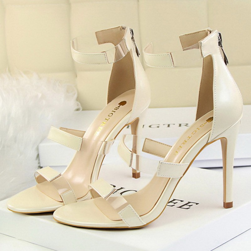 Ericdress PU Heel Covering Zipper Women's Sandals