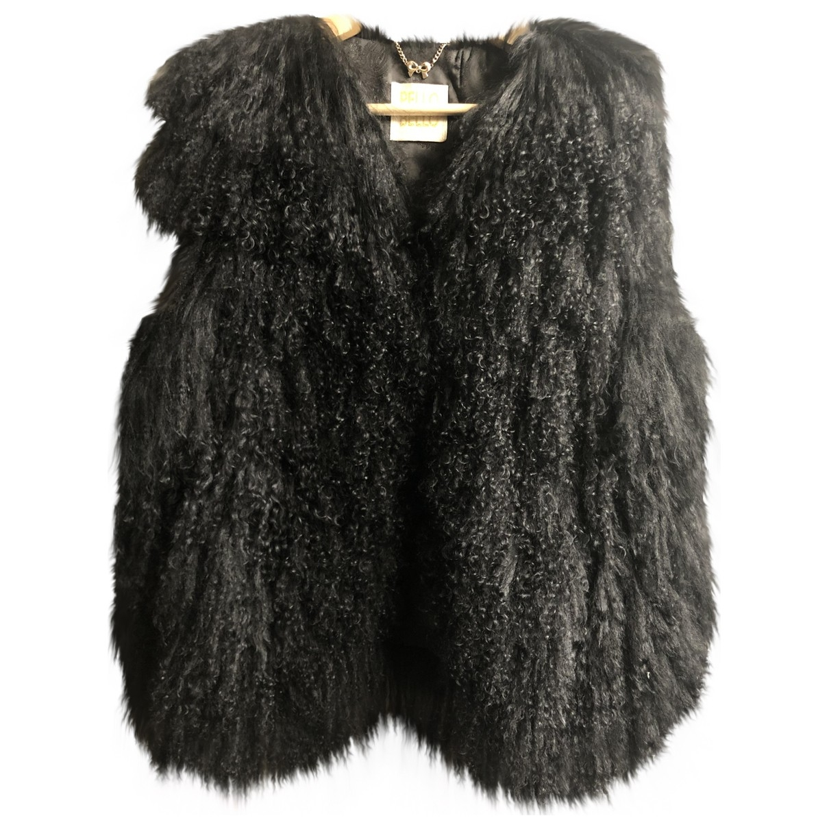 Non Signé / Unsigned \N Black Mongolian Lamb jacket for Women One Size FR