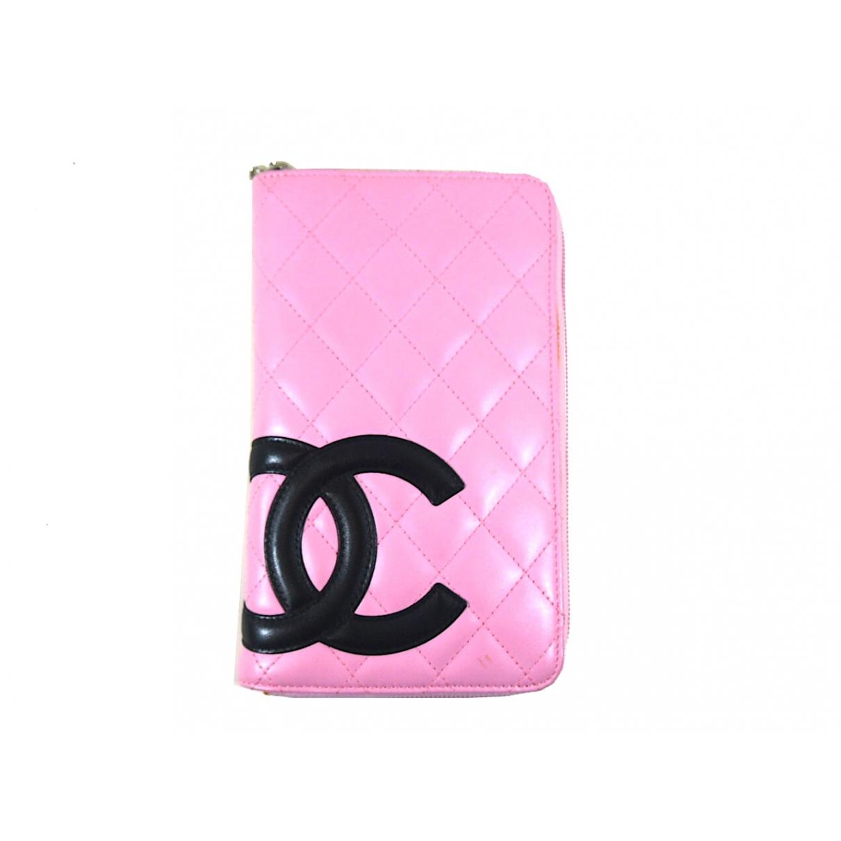 Chanel Cambon Portemonnaie in  Rosa Leder