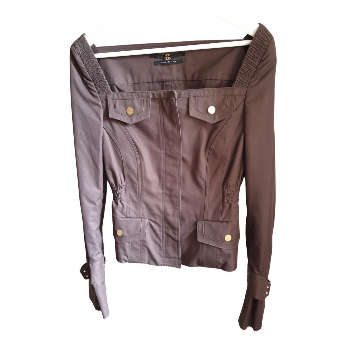 Gucci - Veste   pour femme en coton - marron
