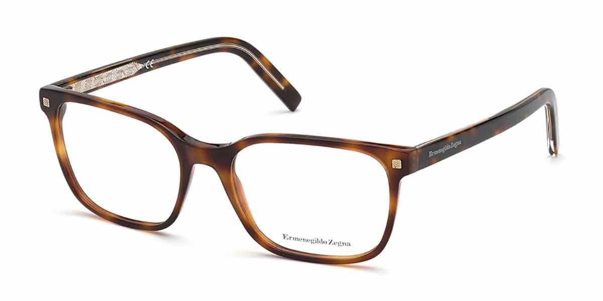 Ermenegildo Zegna EZ5203 052 Men's Glasses Tortoise Size 56 - Free Lenses - HSA/FSA Insurance - Blue Light Block Available