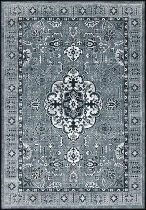 Nova NVA-3039 53 x 77 Rectangle Traditional Rug in Medium Gray  Light Gray  Charcoal