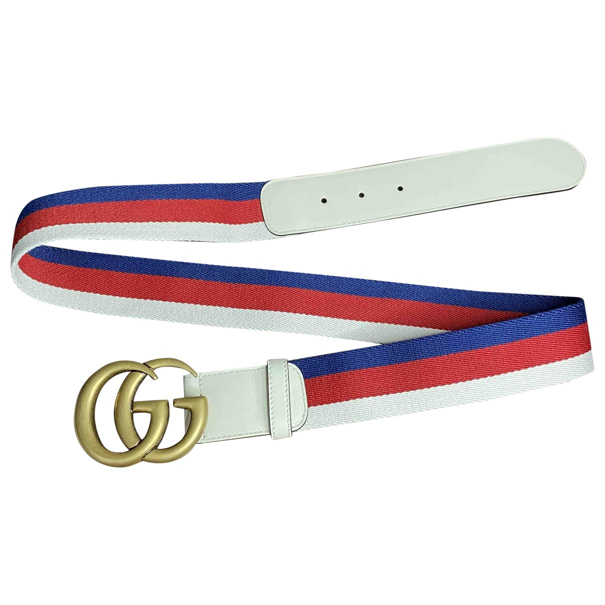 Gucci GG Buckle White Cloth belt for Men 90 cm