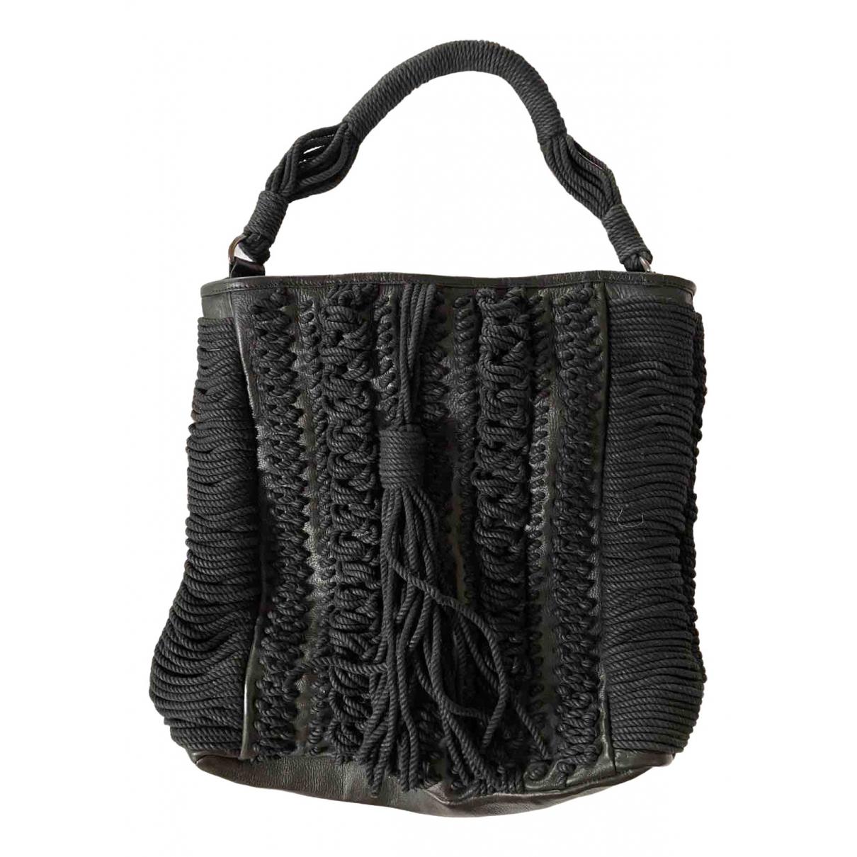 Antik Batik \N Black Leather handbag for Women \N