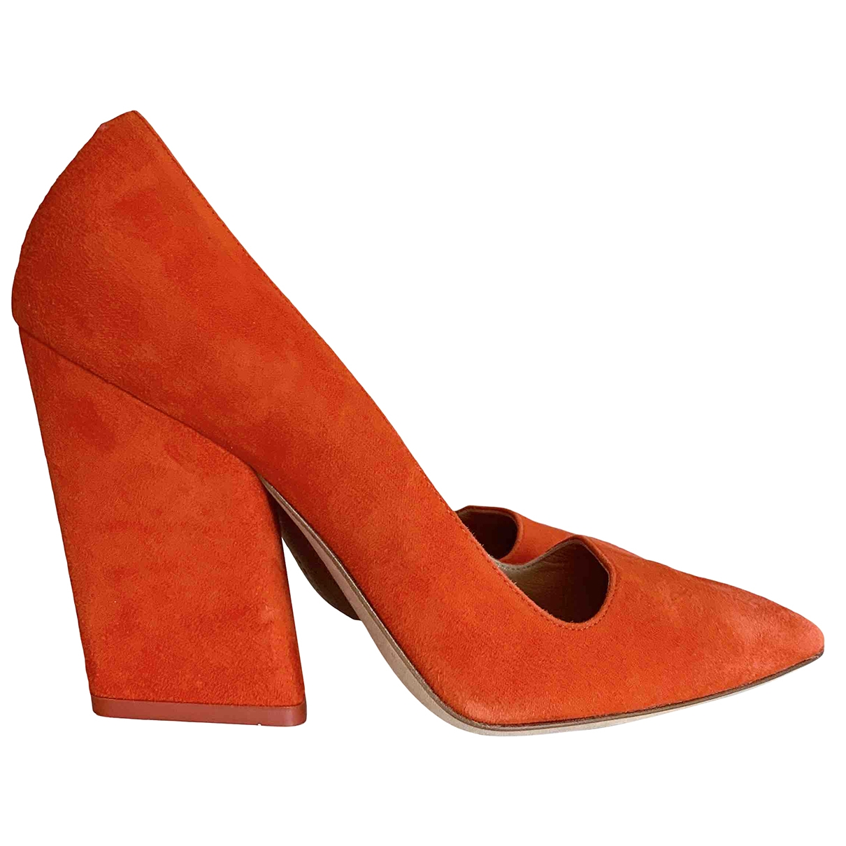 Aeyde \N Pumps in  Orange Veloursleder
