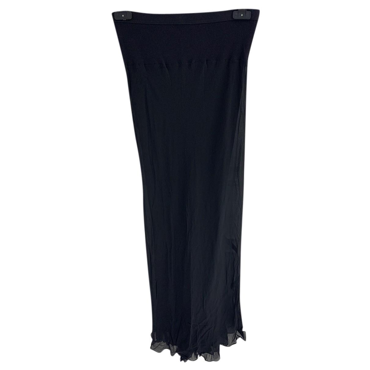 Rick Owens - Jupe   pour femme en soie - noir