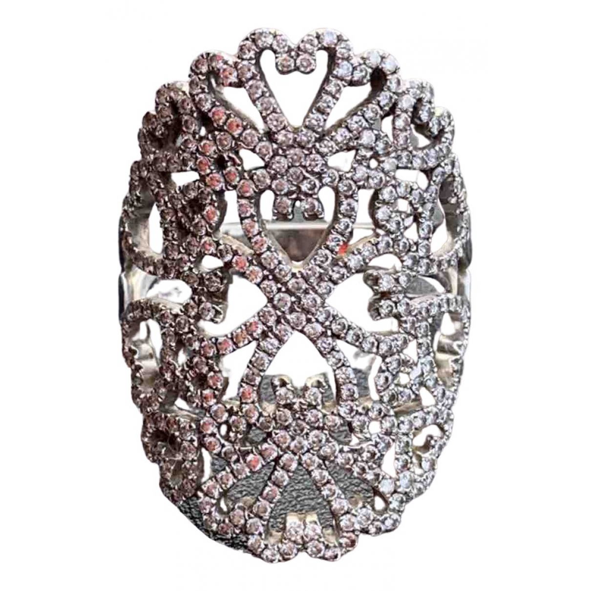 Djula Dentelle Ring in  Weiss Weissgold