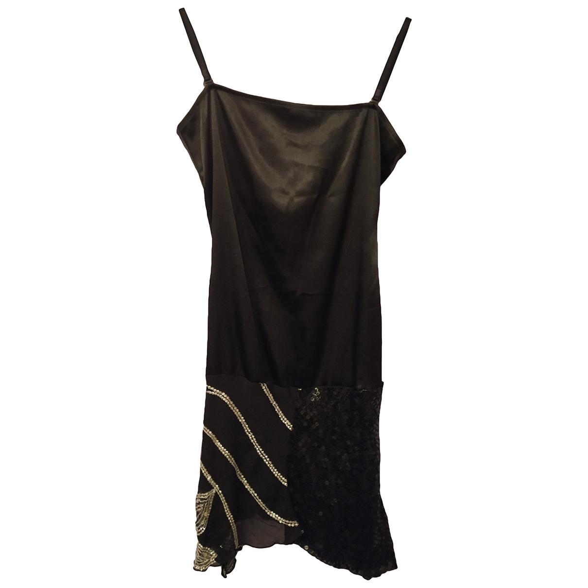 Armani Jeans \N Kleid in  Schwarz Seide