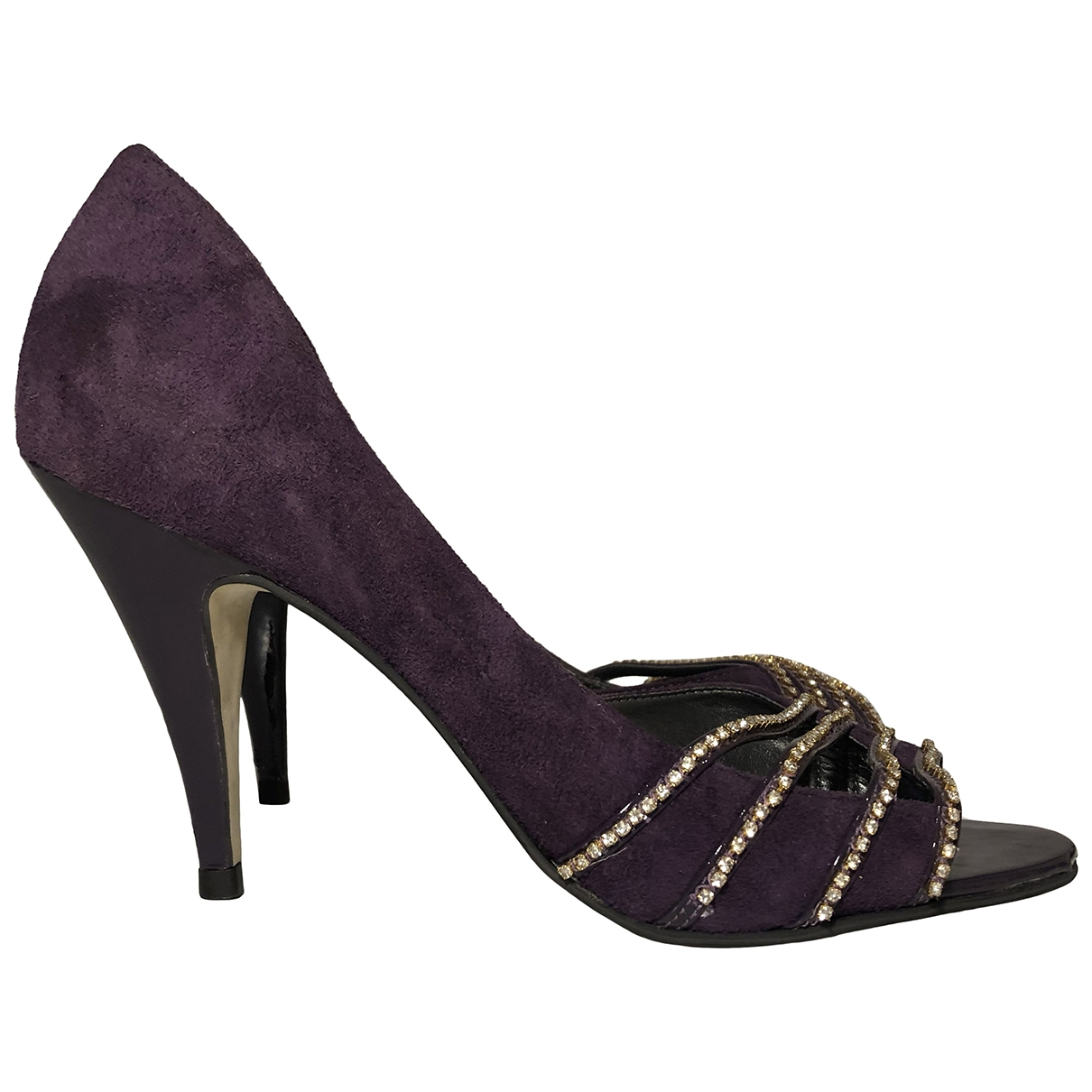 Non Signe / Unsigned \N Pumps in  Lila Veloursleder