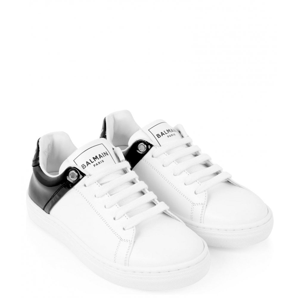 Balmain Leather Trainers Colour: WHITE, Size: 34