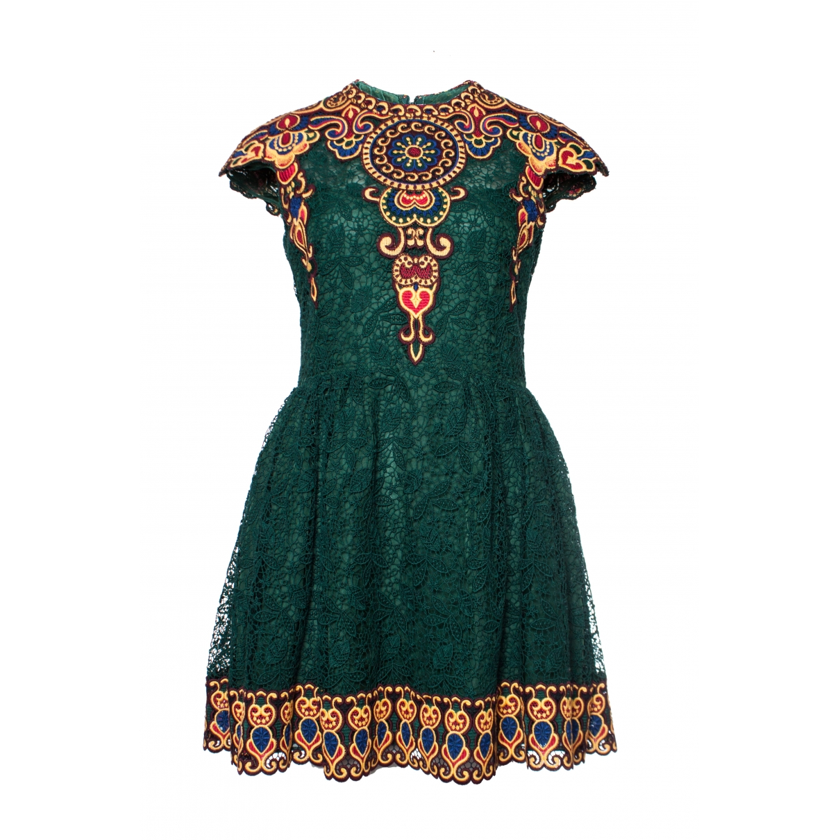 Valentino Garavani \N Green Cotton dress for Women 6 US