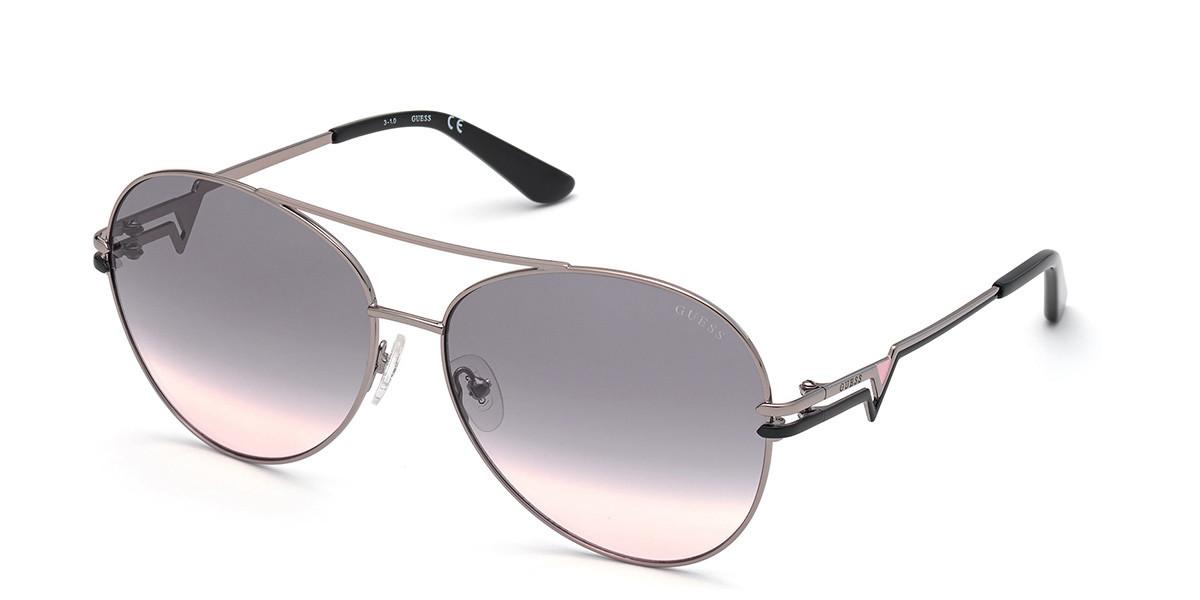 Guess GU 7735 10B Women's Sunglasses Silver Size 64