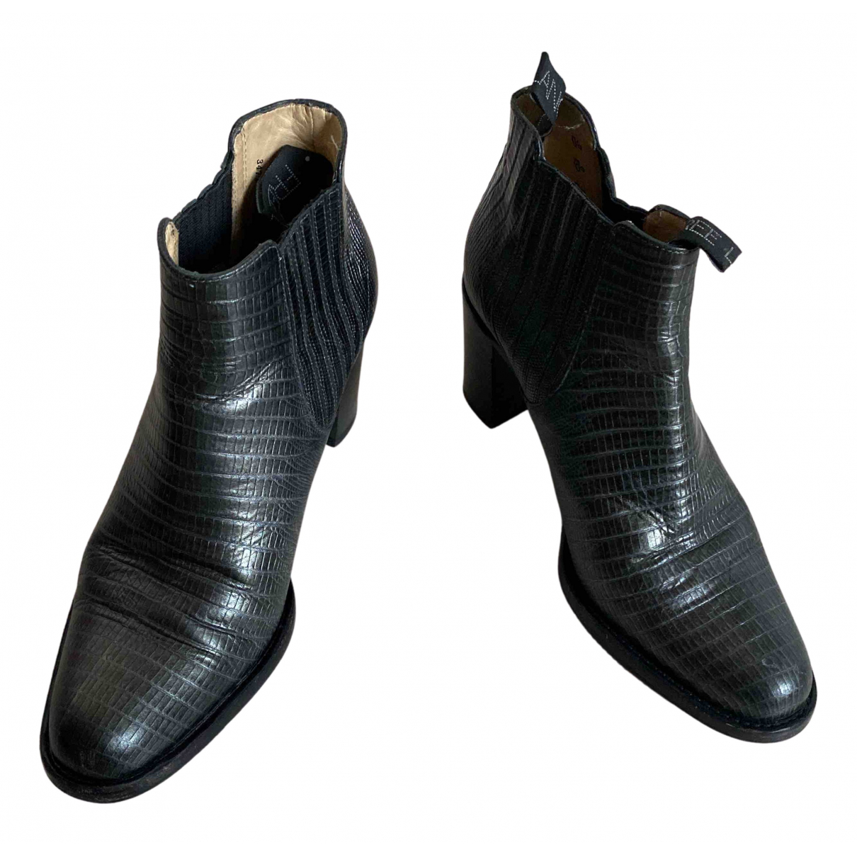 Free Lance N Metallic Leather Ankle boots for Women 38 EU