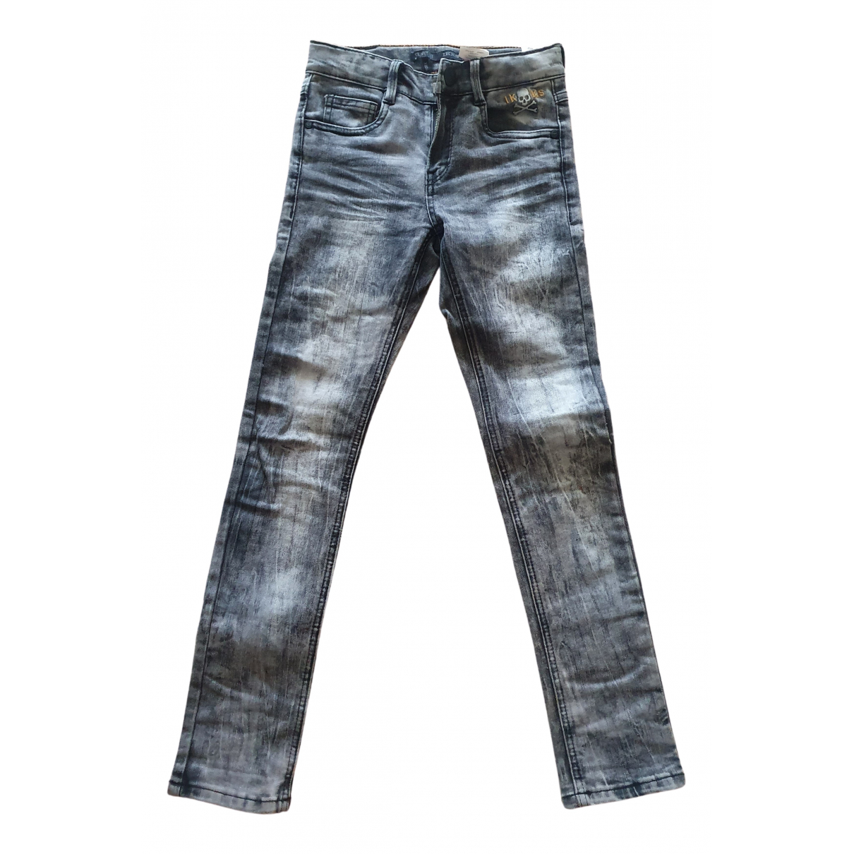 Ikks N Grey Cotton Trousers for Kids 10 years - up to 142cm FR