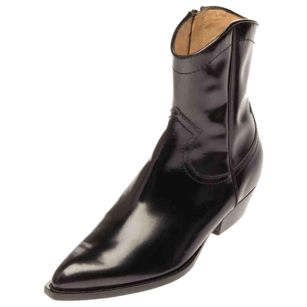 Philosophy Di Lorenzo Serafini - Boots   pour femme en cuir - noir