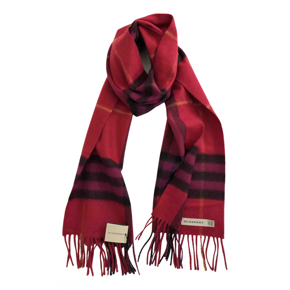 Burberry N Red Cashmere scarf for Women N