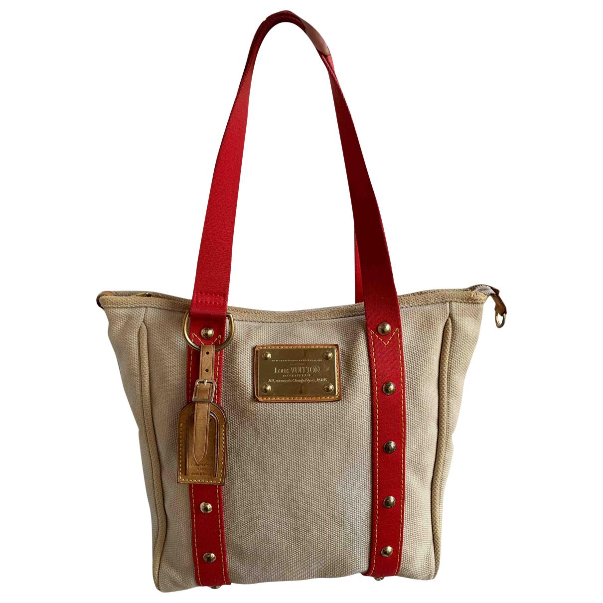 Louis Vuitton Antigua Handtasche in  Beige Leinen