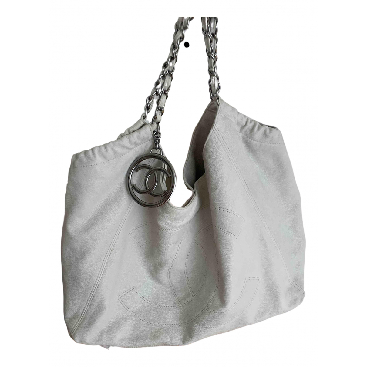 Chanel Coco Cabas Handtasche in  Weiss Leder
