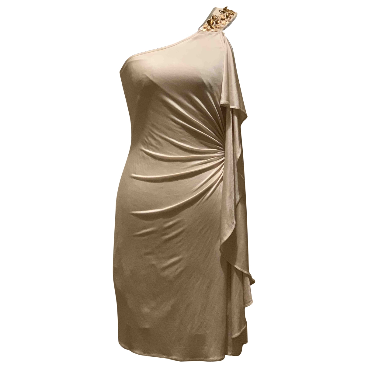 Bcbg Max Azria \N Kleid in  Beige Synthetik