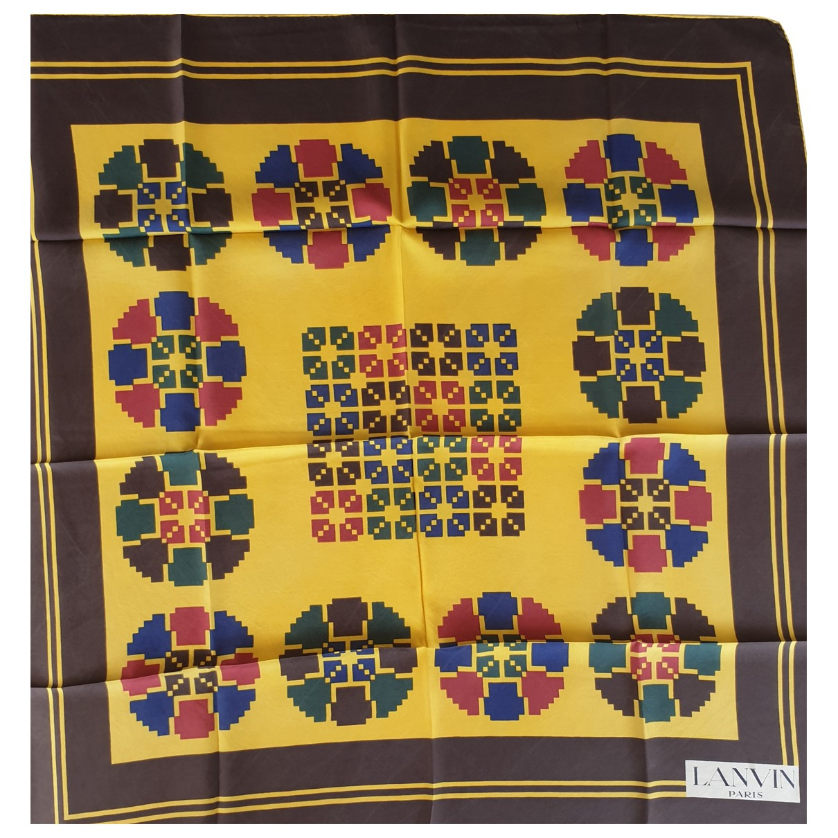Lanvin N Yellow Silk Silk handkerchief for Women N