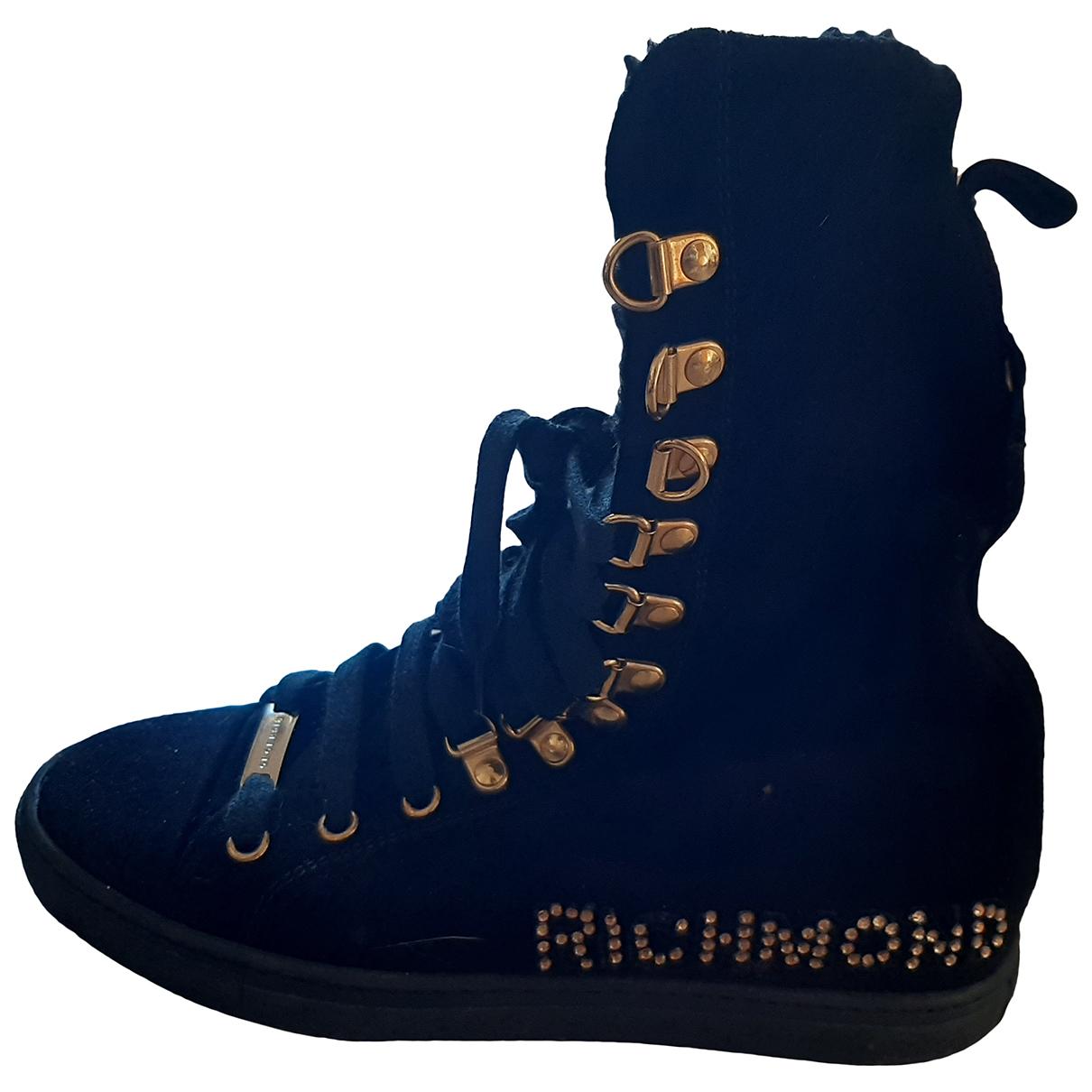 John Richmond \N Sneakers in  Schwarz Veloursleder