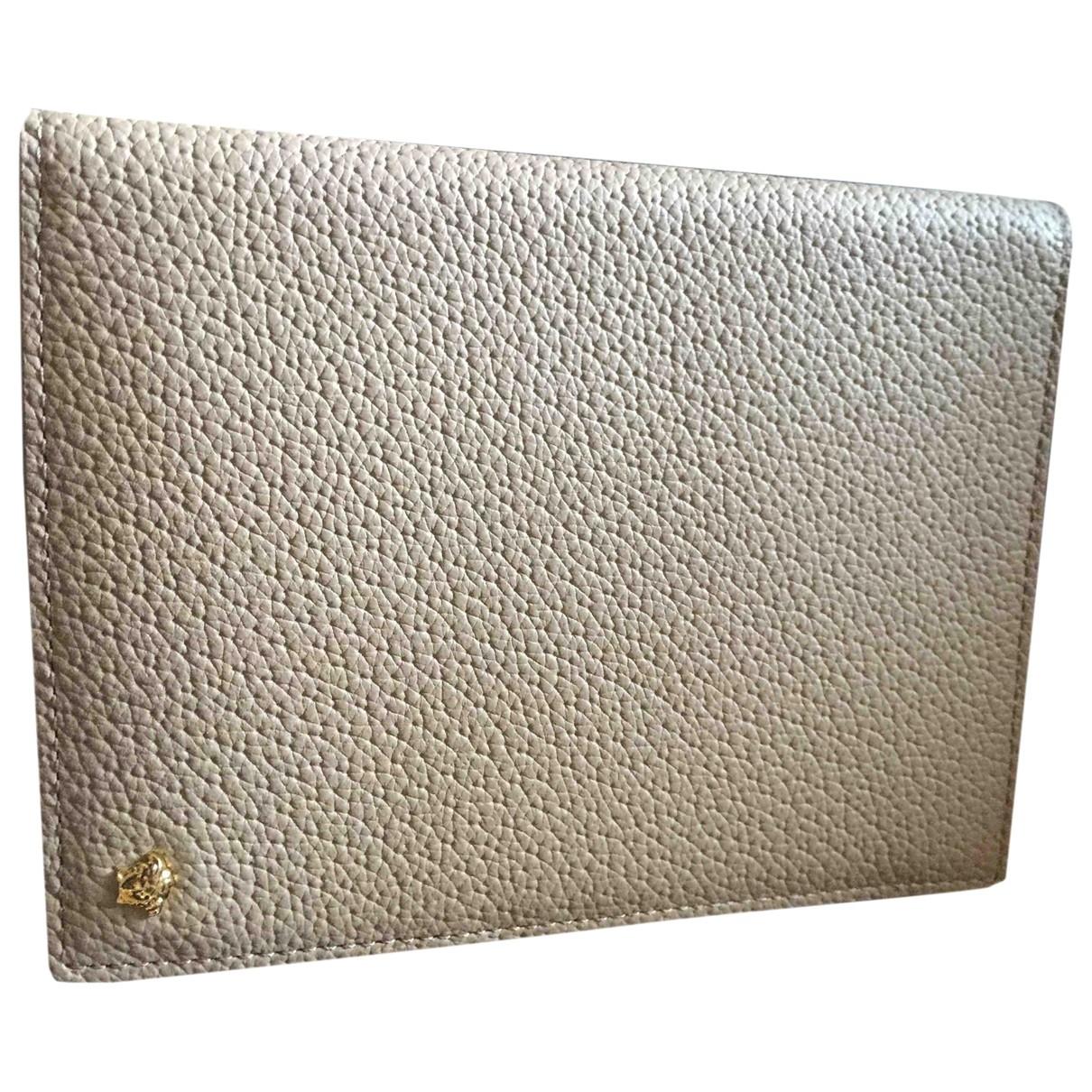Versace - Petite maroquinerie   pour homme en cuir - beige