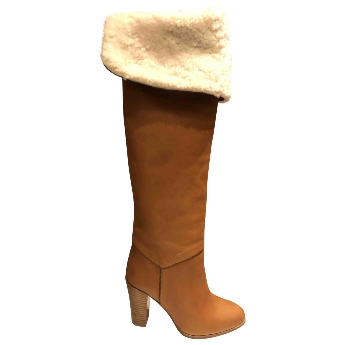 Vanessa Seward \N Camel Leather Boots for Women 38 EU