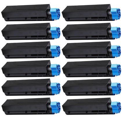 Compatible Okidata 44992405 cartouche de toner noire - boite economique - 12/paquet