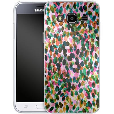 Samsung Galaxy J3 (2016) Silikon Handyhuelle - Rainbow Drizzle von Amy Sia