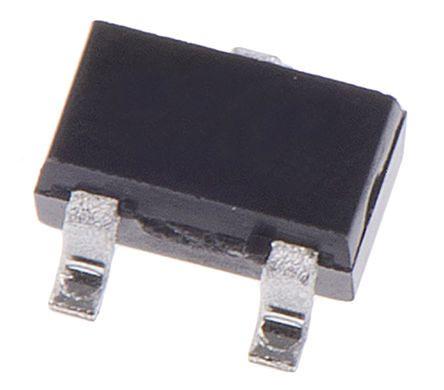 DiodesZetex Diodes Inc MMSTA42-7-F NPN Transistor, 200 mA, 300 V, 3-Pin SOT-323 (50)