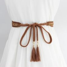 Tassel Charm Rope Belt