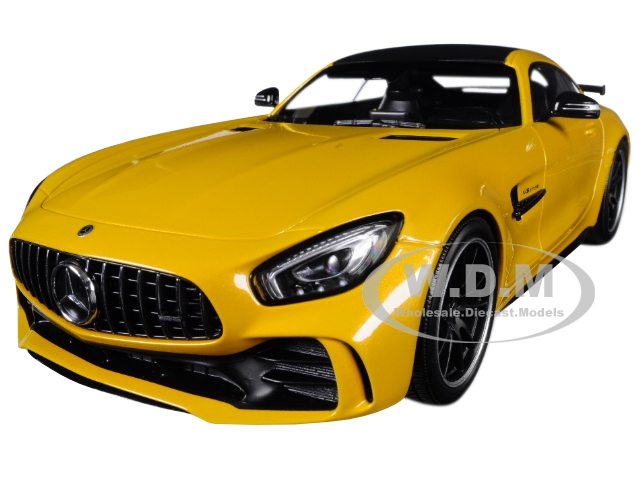 2017 Mercedes AMG GT-R Metallic Yellow with Black Top Limited Edition to 402 pieces Worldwide 1/18 Diecast Model Car by Minichamps