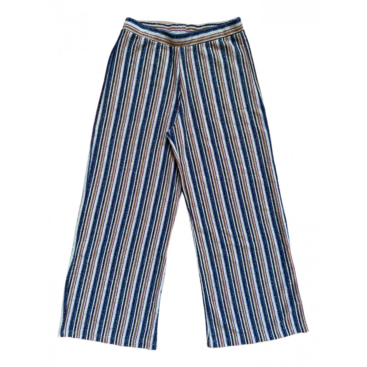 Zara \N Beige Spandex Trousers for Women S International