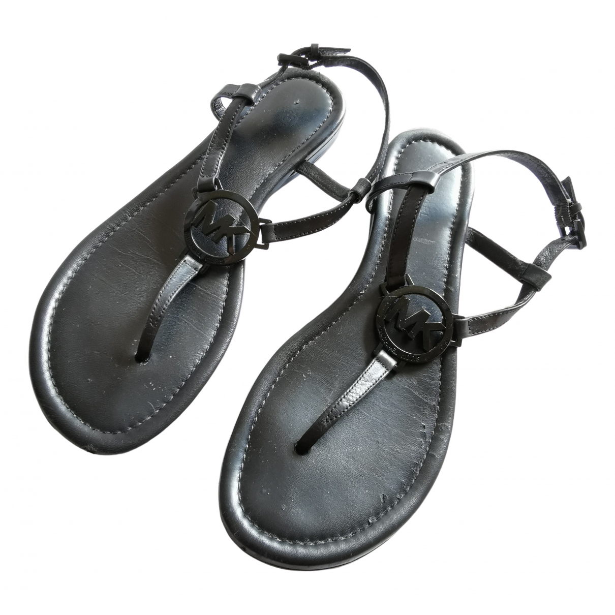 Michael Kors \N Black Leather Sandals for Women 6.5 US
