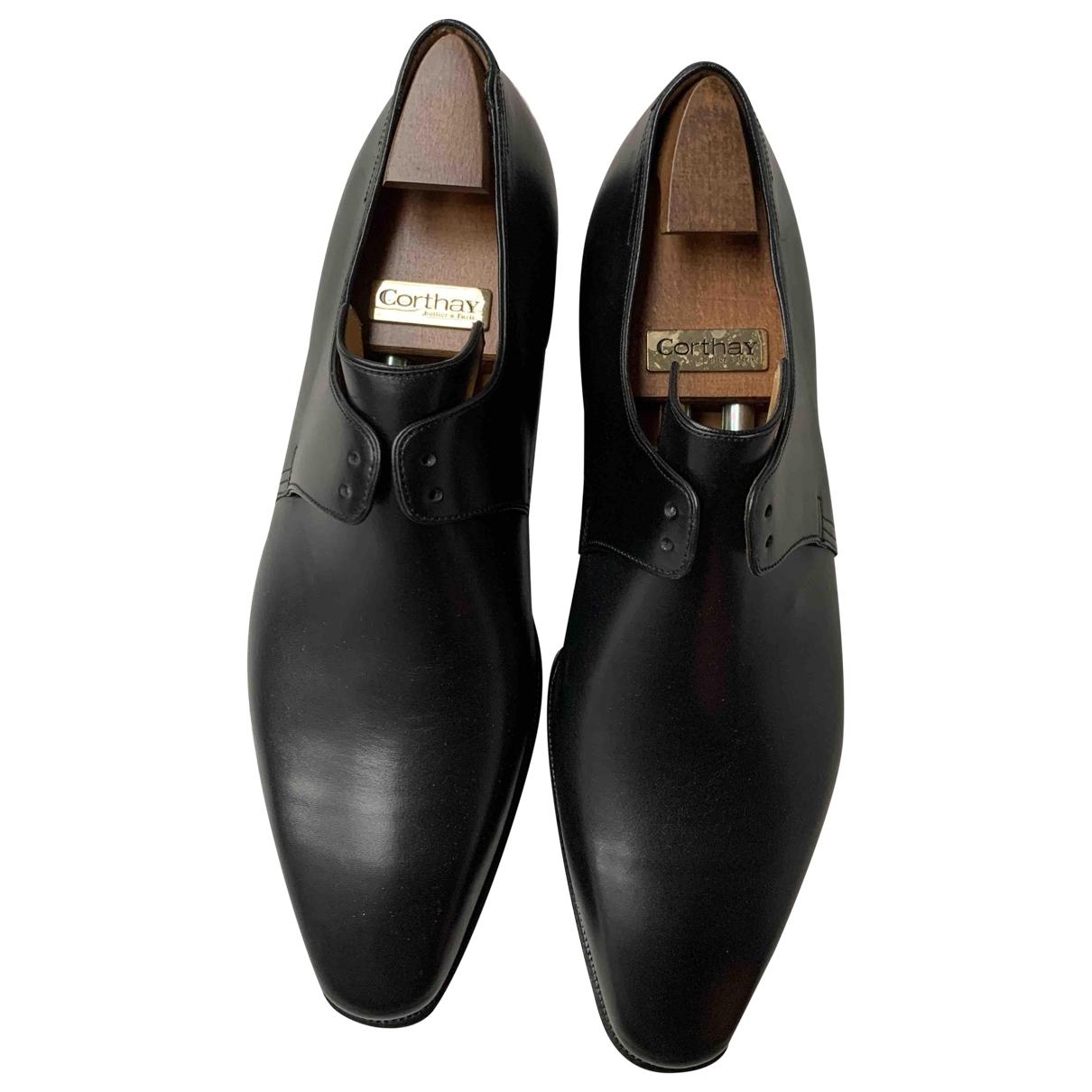 Corthay - Derbies   pour homme en cuir - noir